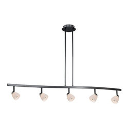 Vaxcel Lighting - 5L Spot Light Pendant White Wiped Glass - Vaxcel Lighting products are highly detailed and meticulously finished by some of the best craftsmen in the business.