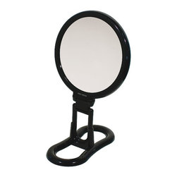 WS Bath Collections - Toeletta 398-3N Table Magnifying Mirror 3x in Black - Toelleta 398-3N Table Magnifying Mirror in Black
