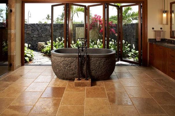 Tropical Bathroom by Willman Interiors / Gina Willman, ASID