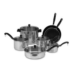 Farberware - Farberware Classic Series II Stainless Steel 12-Piece Cookware Set - This versatile cookware has a traditional look combined with revolutionary properties.