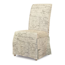 Hooker Furniture - Hooker Furniture Set of 2 Sanctuary Clarice Document Fossil Skirted Chair 200-36 - Pursue serenity at home... Create your own personal sanctuary, a special place where you can experience... comfort within.