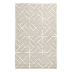 Jaipur Rugs - Jaipur Rugs Hand-Tufted Looped & Cut Wool Gray/Ivory Area Rug, 8 x 10ft - An urban contemporary styled rug collection that updates your living area with bold patterns. Ranging from soft neutrals to strong colors these rugs could live in any home.