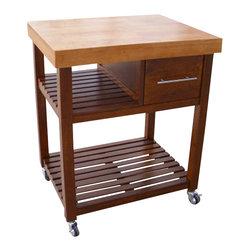 International Concepts - International Concepts Kitchen Work Center in Cinnamon/Espresso - International Concepts - Kitchen Carts - WC583
