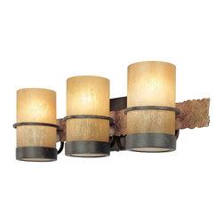 Troy Lighting - Troy Lighting B1843BB Bamboo Bronze 3 Light Vanity - Troy Lighting B1843BB Bamboo Bronze 3 Light Vanity