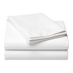 Wamsutta 360 Perfect Pinpoint Fitted Sheet - A set of nice, white cotton sheets always make a practical, lovely gift that the couple will use for years to come! Just be sure to find out their bed size.