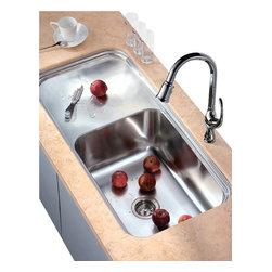 Dawn Kitchen & Bath - Dawn DSU4120 23 inch Undermount Single Bowl Kitchen Sink - DSU4120