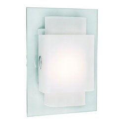 Trans Globe Lighting - Trans Globe Lighting MDN-844 1 Light Double Rectangles Wall Sconce from the Youn - Trans Globe MDN-844 Single Light Modern Wall Sconce from the Young and Hip Collection