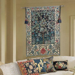 """EuroLux Home - New 36x53 Tapestry Tree of Life """"Portiere"""" - Product Details"""