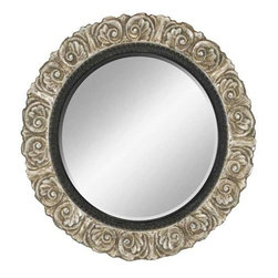 Paragon Art - Paragon Round Ornate Silver - Round Ornate Silver ,  Paragon Beveled Mirror       Mirror size is 29h x 29w. , Paragon has some of the finest designers in the home accessory industry. From industry veterans with an intimate knowledge of design, to new talent with an eye for the cutting edge, Paragon is poised to elevate wall decor to a new level of style.