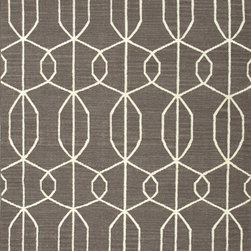 Jaipur Rugs - Flat Weave Geometric Pattern Gray /Black Wool Handmade Rug - MR34, 3.6x5.6 - An array of simple flat weave designs in 100% wool - from simple modern geometrics to stripes and Ikats. Colors look modern and fresh and very contemporary.