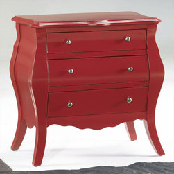 "Hammary - Hidden Treasures Red Drawer Chest - ""Hammary's Hidden Treasures collection is a fine assortment of unique accent pieces inspired by some of the greatest designs the world over. Each selection is rich in Old World icons and traditions."