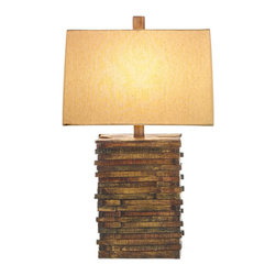 StyleCraft Natural Wood Table Lamp - This wooden lamp base has pretty coloring.
