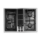 "Jenn-Air 30"" Gas Downdraft Cooktop, Stainless/blk 