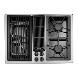"""Jenn-Air 30"""" Gas Downdraft Cooktop, Stainless/blk 