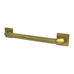 """Kingston Brass - Kingston Brass Polished Brass Claremont 12"""" Decorative Grab Bar DR614122 - Fabricated from solid brass material for durability and reliability, 1-1/4"""" gripping surface on grab bar, Easy to install, 1-1/2"""" (38mm) wall clearance meets ADA standard, Mounting hardware included (2""""x#10 Philips Head Screw. Total 6pcs), 12"""" overall length, 1-1/4"""" outer diameter, One Year Limited Warranty to the original consumer to be free from defects in material and finish.Manufacturer: Kingston BrassModel: DR614122UPC: 663370135231Product Name: 12"""" Decorative Grab BarCollection / Series: ClaremontFinish: Polished BrassTheme: Contemporary / ModernMaterial: BrassType: AccessoriesFeatures: Constructed from solid brass for durability and reliability"""