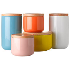 Contemporary Kitchen Canisters And Jars by Wanda Harland