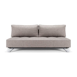 Innovation USA - Innovation USA Supremax Deluxe Excess Sofa - Chrome Legs - Mixed Dance Grey - 55 - Deluxe seating and sleeping comfort embodied in an elegant design that allows it to be free standing in the middle of a room. The Deluxe styling adds a classic, modernistic character to the sofa.