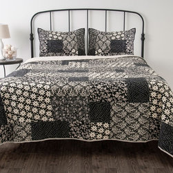 None - Miranda 3-piece Quilt Set - Rizzy Home Miranda Cotton Quilt Set
