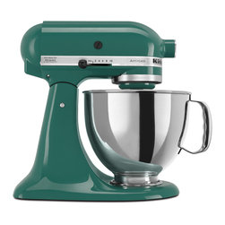 KitchenAid - KitchenAid KSM150PSBL Bayleaf Artisan 5-quart Stand Mixer **With Rebate** - Scott has been wishing for a KitchenAid mixer for as long as I've known him. It's about time we make that happen, and this spruce green feels so elegant.