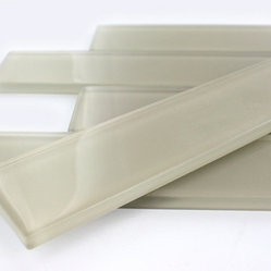 Sample Loft Horizon Macadamia Polished 2x16 Tile 1/2 Piece - sample-LOFT HORIZON MACADAMIA POLISHED 2X16 GLASS TILE SAMPLE You are purchasing a 2X8 sample. Samples are intended for color comparison purposes, not installation purposes. -Glass Tiles -