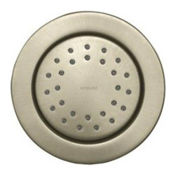 """Kohler - Kohler K-8013-BN Brushed Nickel WaterTile Traditional Round 27 Nozzle - WaterTile(R) Round 27-nozzle bodyspray WaterTile bodysprays lie virtually flush to the wall and can be placed almost anywhere. The 27-nozzle WaterTile delivers a high-volume, stimulating spray.  27 MasterClean(tm) spray nozzles provide stimulating hydrotherapy  Low profile design complements any décor  1/2"""" NPT connections  Fully adjustable sprayface allows for a variety of installation options"""
