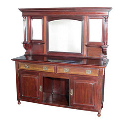 Antiques - Antique Mahogany Regency Buffet Sideboard Server - Mahogany finish