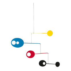 Orbiting Ovals Mobile - Yellow/Blue/Red