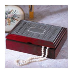 Godinger Silver - Weave Wooden Jewelry Box - Do justice to your jewelry with this dazzling jewelry box. Whether you display it as your tabletop accessory, chest accent or table centerpiece this piece will surely give you its best in elegance. Present this trinket box as a housewarming gift for your loved one. It also adds definition anywhere its displayed. Dimensions: 8 x 6 x 2 inches.