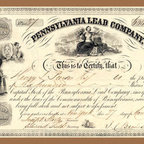 Buyenlarge - Pennsylvania Lead Company 20x30 poster - Series: Stocks & Bonds