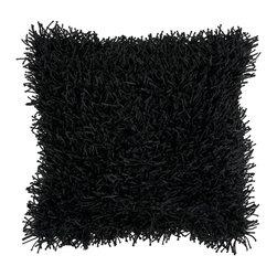 "Surya - Surya 22 x 22 Decorative Pillow, Jet Black (FA061-2222P) - Surya FA061-2222P 22"" x 22"" Decorative Pillow, Jet Black"