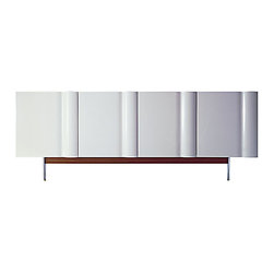 ecofirstart - Bump Cabinet - Bring a sleek, modern look to your dining room with this four door cabinet, crafted from sustainable materials. This stunningly designed cabinet has a shelf of solid wood inside, and would serve amazingly well as a sideboard in your contemporary dining area.