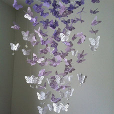 Monarch Butterfly Chandelier Mobile purple by DragonOnTheFly