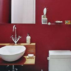 Contemporary Powder Room by James Wagman Architect, LLC