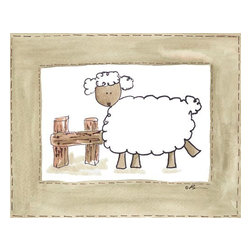 Oh How Cute Kids by Serena Bowman - Another Vintage Sheep, Ready To Hang Canvas Kid's Wall Decor, 8 X 10 - Every kid is unique and special in their own way so why shouldn't their wall decor be so as well! With our extensive selection of canvas wall art for kids, from princesses to spaceships and cowboys to travel girls, we'll help you find that perfect piece for your special one.  Or fill the entire room with our imaginative art, every canvas is part of a coordinating series, an easy way to provide a complete and unified look for any room.