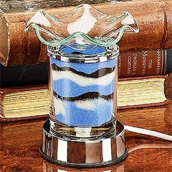 Artico - Blue Grain Colorsand D�cor Touch Sensitive Electric Oil Burner - This gorgeous Blue Grain Colorsand D�cor Touch Sensitive Electric Oil Burner has the finest details and highest quality you will find anywhere! Blue Grain Colorsand D�cor Touch Sensitive Electric Oil Burner is truly remarkable.