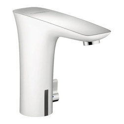 Hansgrohe - Hansgrohe PuraVida Electronic Lavatory Faucet w/ Temperature Control (15170401) - Hansgrohe 15170401 PuraVida Electronic Lavatory Faucet with Temperature Control, White/Chrome