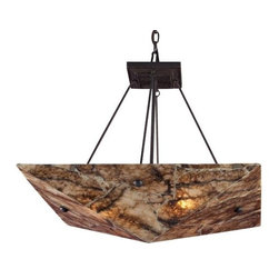 """ELK Lighting - Imperial Granite 8875 Bowl by ELK Lighting - Ooh, the warmth of rustic decor...! It instantly adds an element of comfort and coziness. Paired with the strength of granite, the ELK Lighting Imperial Granite 8875 Bowl strikes a handsome balance between welcoming warmth and durability. A beautiful light whether on or off. Founded in Eastern Pennsylvania in 1983, ELK Lighting designs and delivers """"Lighting for Distinctive Homes."""" As such, the exclusive line of ELK Lighting products has extraordinary designer appeal matched by an emphasis on value and craftsmanship."""