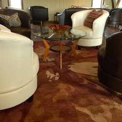 Gust of Sun Winery - Barrel swivel chairs available in several different fabrics and leathers.
