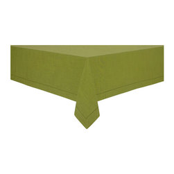 """KAF Home - Rustic Tablecloth - 70 x 126"""", Olive - Our rustic tablecloths are versatile, soft and give a classic feel to a modern kitchen. Available in a variety of colors, these tablecloths are perfect for more formal occasions, indoor or outdoor."""