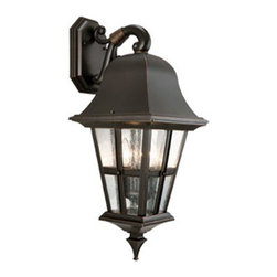DHI-Corp - Regency Outdoor Downlight, 10.5-Inch by 25.5-Inch, Oil Rubbed Bronze - The Design House 516765 Regency Outdoor Downlight greets your guests at the door with a soft, inviting glow. Finished in oil rubbed bronze with clear seeded glass, this outdoor sconce has curved lines and a lantern construction for a vintage appeal. The window panels make this light look like it came from an antique shop without the upkeep or high costs. Measuring 10.5-inches by 25.5-inches, this lamp matches brick, stone, wood paneling or aluminum siding. This wall mount uses (3) 60-watt medium base candelabra lamps and is rated for 120-volts. UL listed and UL approved for wet areas, this downlight will not break or rust in harsh weather. The Design House 516765 Regency Outdoor Downlight comes with a 10-year limited warranty that protects against defects in materials and workmanship. Design House offers products in multiple home decor categories including lighting, ceiling fans, hardware and plumbing products. With years of hands-on experience, Design House understands every aspect of the home decor industry, and devotes itself to providing quality products across the home decor spectrum. Providing value to their customers, Design House uses industry leading merchandising solutions and innovative programs. Design House is committed to providing high quality products for your home improvement projects.