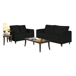 Chelsea Home Furniture - Chelsea Home Heather 3-Piece Living Room Set in Bulldozer Black - Heather 3-Piece living room set in bulldozer black belongs to Triad collection by Chelsea Home Furniture