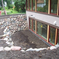 Stone window well – Northfield Construction Company