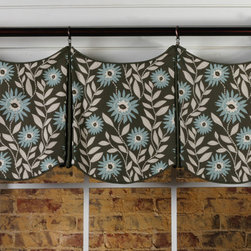 Delaine Curtain Valance Pattern - This fun, tailored valance is an unusual take on a pleated style and can be adapted to fit any size window. For added interest, we like to use a contrast fabric for the pleats and add some trim along the bottom edge.