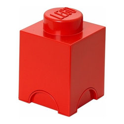LEGO - LEGO MOVIE Storage Brick 1, Bright Red - Let the children tidy up with at smile. Our LEGO Movie Storage Brick 1 in bright red color is oversized LEGO brick that is designed to stack, just like the original LEGO bricks. Decorate, play, build, form and have fun with the bricks or keep your toys sorted using them as storage boxes.