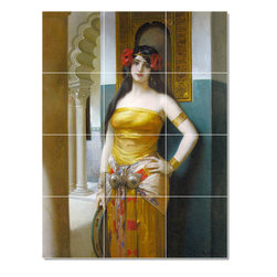 Picture-Tiles, LLC - Francois An Arab Beauty Tile Mural By Leon Comerre - * MURAL SIZE: 17x12.75 inch tile mural using (12) 4.25x4.25 ceramic tiles-satin finish.