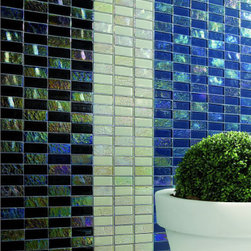 """Alttoglass Precious stone series - Alttoglass Precious Stone Aqua Marine 12"""" x 12"""" StoneMosaic Tile Features: Application: Indoor only, Walls Install Type: Thin-Set Usage: Commercial or Residential Color:Rubi Product Type Mosaic Tile Coverage 1 sq ft Piece(s):11 per Box Material:GlassTile Size:12 x 12 format / Shape Square Tile Use: Wall Series:Precious Stone Brand:Alttoglass Weight: 4.00 lbs Dimensions:Length - 12.00""""   Width - 12.00"""""""
