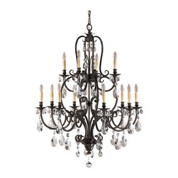Murray Feiss - Murray Feiss F2229/8+4ATS Salon Maison 12 Bulb Aged Tortoise Shell Chandelier - Murray Feiss F2229/8+4ATS Salon Maison 12 Bulb Aged Tortoise Shell Chandelier