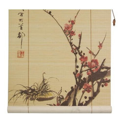 Oriental Unlimited - Sakura Blossom Bamboo Blinds (24 in.) - Choose Size: 24 in.Feature a lovely image of Sakura blossoms. Easy to hang and operate. 24 in. W x 72 in. H. 36 in. W x 72 in. H. 48 in. W x 72 in. H. 60 in. W x 72 in. H. 72 in. W x 72 in. H