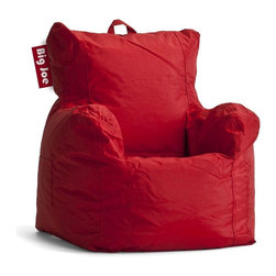 Comfort Research - Comfort Research Big Joe Cuddle Chair - Flaming Red - Every child enjoys a seat of their own, and the Big Joe Cuddle Chair is perfect for any room in the house. It even comes equipped with a pocket and an easy-carry handle. Made with tough, stain and water-resistant SmartMax Fabric. Filled with UltimaX Beans that conform to you. Double stitched and double zippers for added strength and safety. Spot clean. Ages 1-5