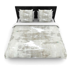 "Kess InHouse - CarolLynn Tice ""Effortless"" Neutral Gray Cotton Duvet Cover (Queen, 88"" x 88"") - Rest in comfort among this artistically inclined cotton blend duvet cover. This duvet cover is as light as a feather! You will be sure to be the envy of all of your guests with this aesthetically pleasing duvet. We highly recommend washing this as many times as you like as this material will not fade or lose comfort. Cotton blended, this duvet cover is not only beautiful and artistic but can be used year round with a duvet insert! Add our cotton shams to make your bed complete and looking stylish and artistic!"